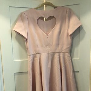Pink, heart cut out back, dress